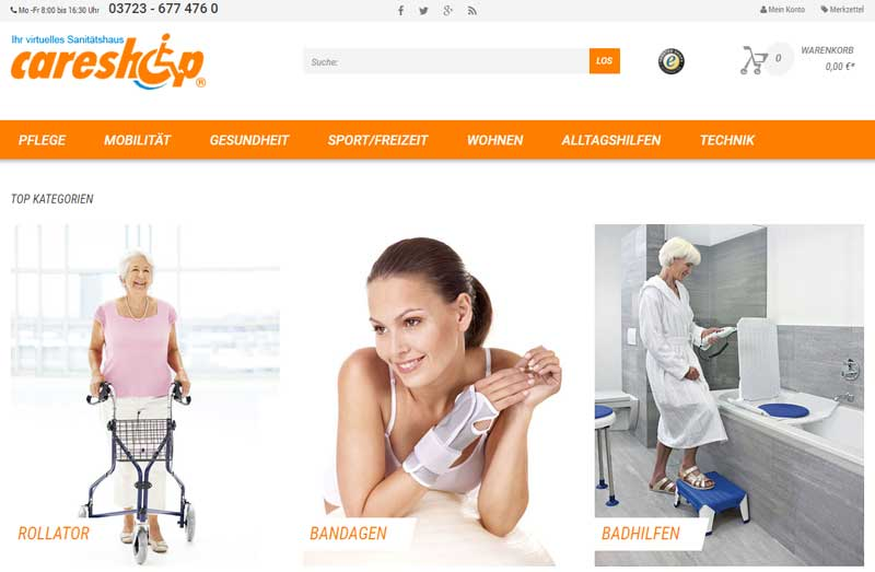 Online Sanitätshaus careshop